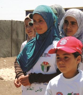 Football dans le camp de réfugiés de <b>Za'atari</b>