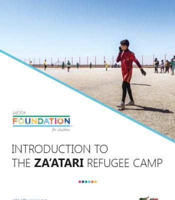 Exposition de photos du camp de Za'atari à l'EURO de futsal à Belgrade