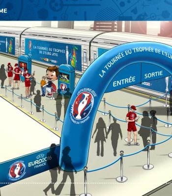 Le Trophée de l'UEFA EURO en tournée à travers la France