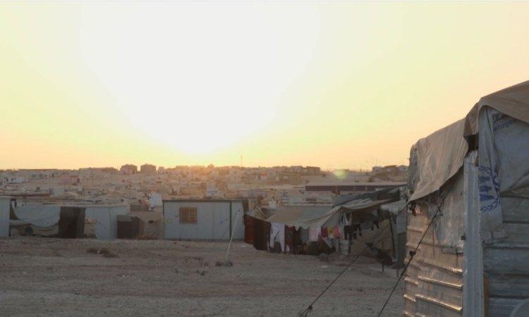 Camp de réfugiés de Za'atari en Jordanie