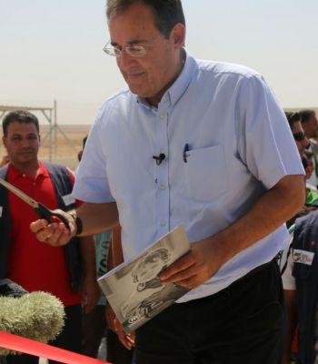 Inauguration de la Maison du sport à Za'atari