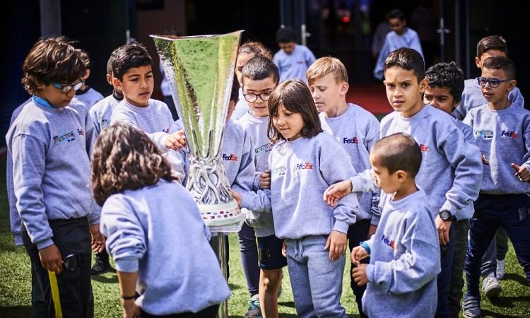 Un rêve devenu réalité pour des petits lyonnais pendant la finale de l'UEFA Europa League 2018