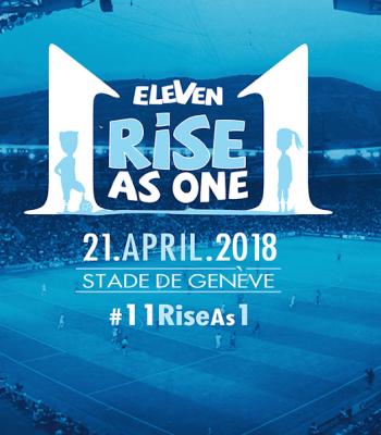 Présence d'Eleven Campaign en amont du Match pour la Solidarité