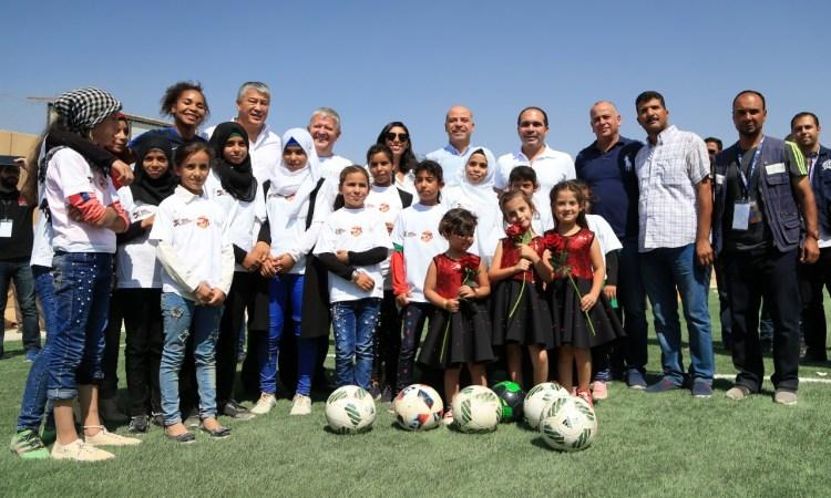 Terrain de L'ESPOIR, un premier terrain réservé aux filles dans le camp de Zaatari