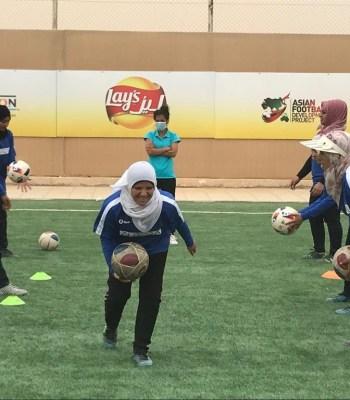 Football dans le camp de réfugiés d'Azraq