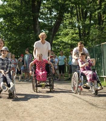 Installations sportives à l'orphelinat de Belskoye Ustye