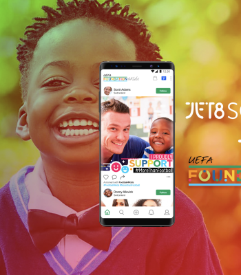 La Fondation JET8 et la Fondation UEFA pour l'enfance lancent une application de commerce social en lien avec le football pour changer les choses dans la vie des enfants