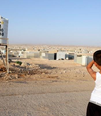 Football dans le camp de réfugiés de Za'atari