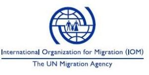 Logo- International organisation for migrant