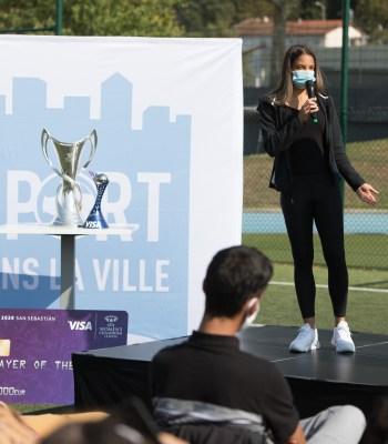 Visa fait don de EUR 50 000 à une organisation caritative soutenue par la Fondation de l'UEFA et choisie par Delphine Cascarino