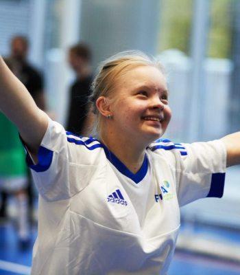 Football pour les enfants atteints du syndrome de Down