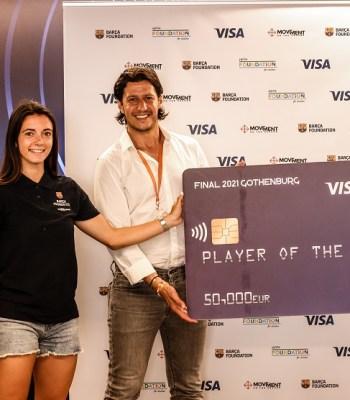 Visa fait un don de EUR 50 000 à la Fondation UEFA pour l'enfance